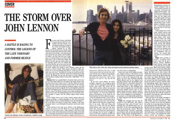 Article Preview: THE STORM OVER JOHN LENNON, October 1988 | Maclean's