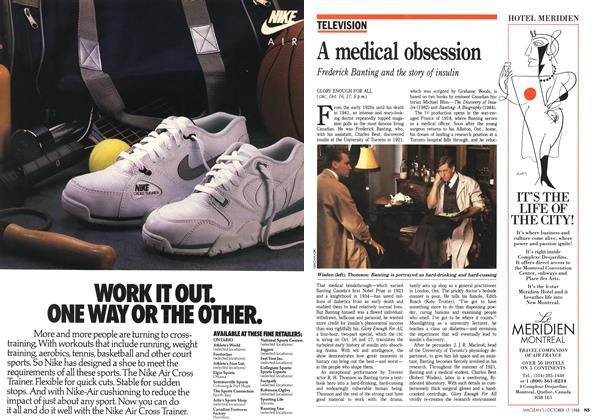 Article Preview: A medical obsession, October 1988 | Maclean's