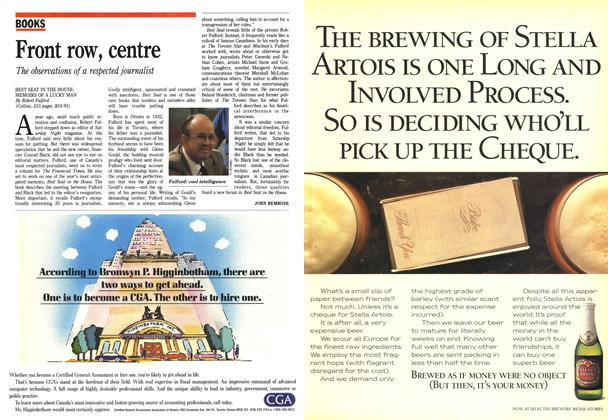 Article Preview: Front row, centre, October 1988   Maclean's