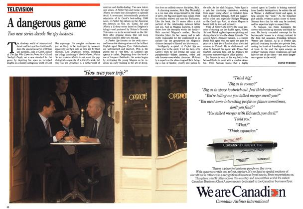 Article Preview: A dangerous game, October 1988 | Maclean's