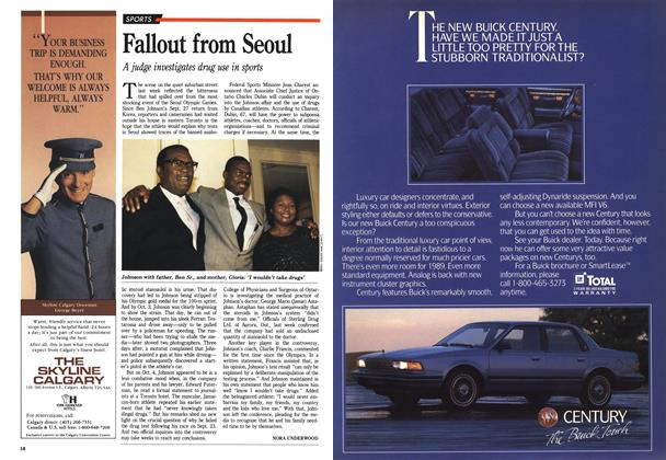 Article Preview: Fallout from Seoul, October 1988 | Maclean's