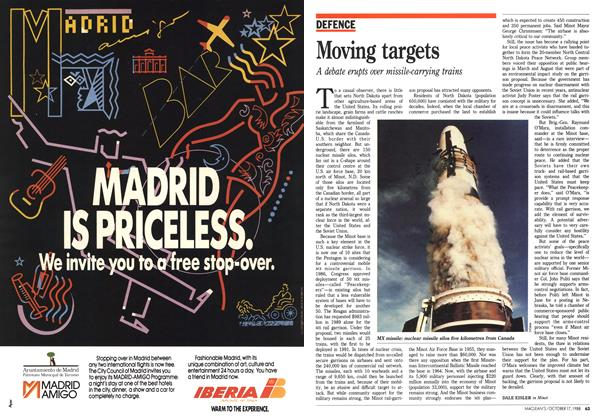 Article Preview: Moving targets, October 1988   Maclean's