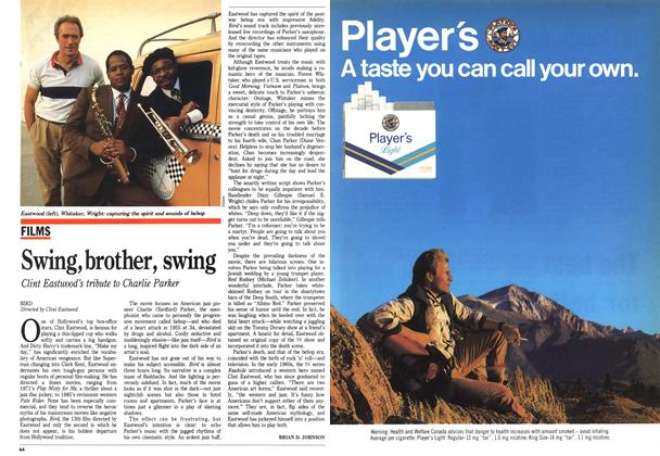 Article Preview: Swing, brother, swing, October 1988 | Maclean's