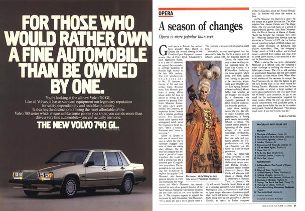 Article Preview: A season of changes, October 1988 | Maclean's