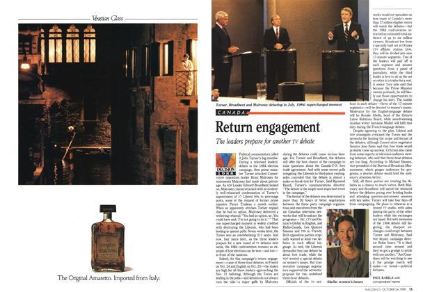Article Preview: Return engagement, October 1988 | Maclean's