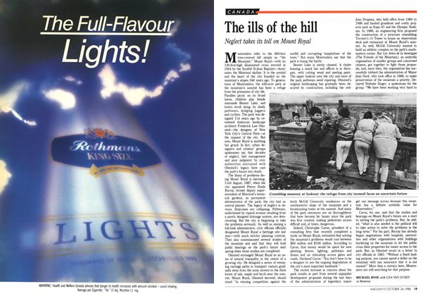 Article Preview: The ills of the hill, October 1988 | Maclean's