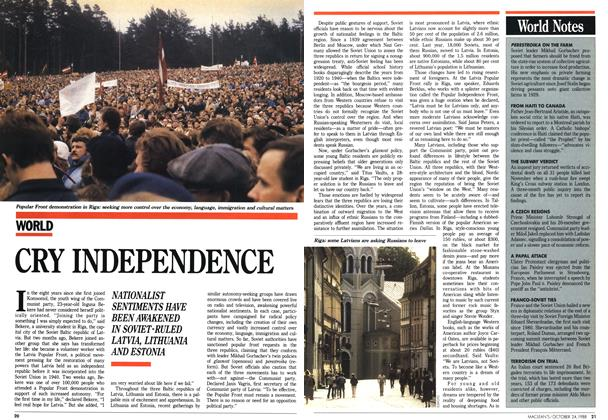 Article Preview: CRY INDEPENDENCE, October 1988 | Maclean's