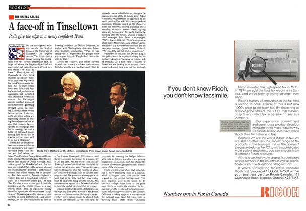 Article Preview: A face-off in Tinseltown, October 1988 | Maclean's