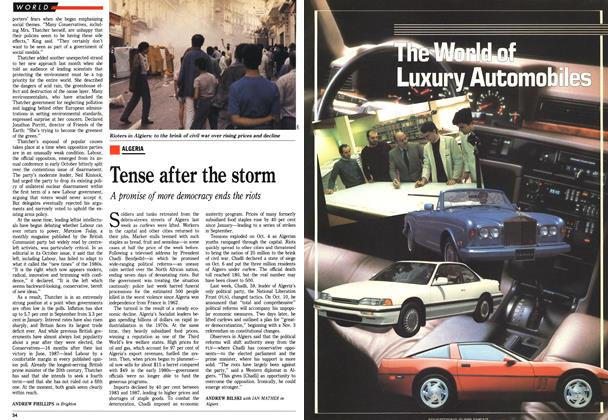 Article Preview: Tense after the storm, October 1988   Maclean's
