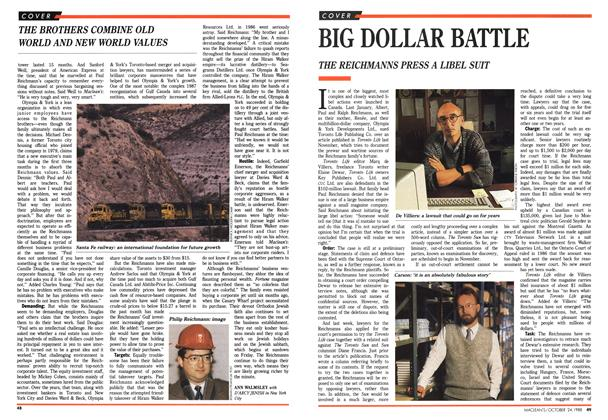 Article Preview: BIG DOLLAR BATTLE, October 1988 | Maclean's