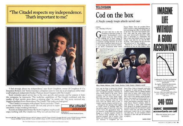 Article Preview: Cod on the box, October 1988 | Maclean's