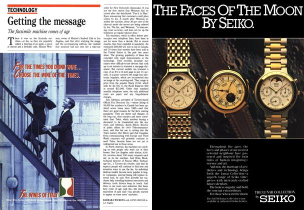 Article Preview: Getting the message, October 1988 | Maclean's