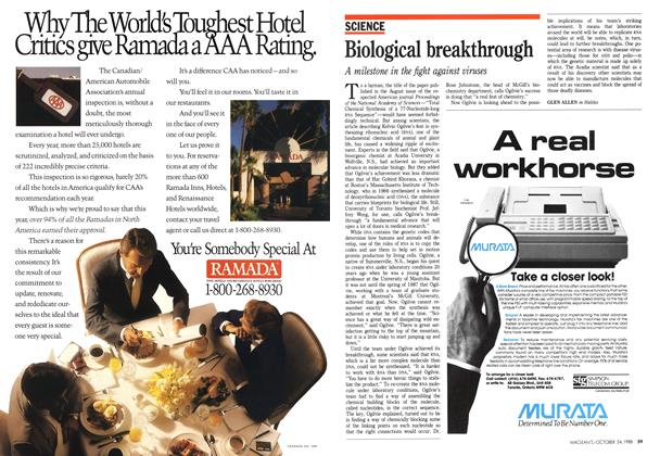 Article Preview: Biological breakthrough, October 1988 | Maclean's