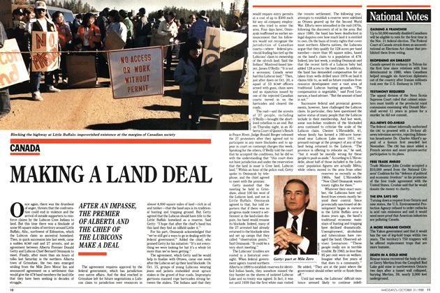 Article Preview: MAKING A LAND DEAL, October 1988 | Maclean's