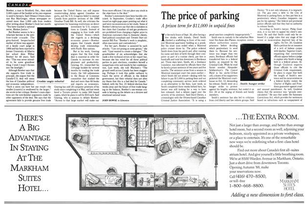 Article Preview: The price of parking, October 1988 | Maclean's