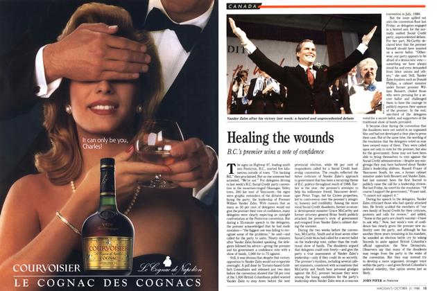 Article Preview: Healing the wounds, October 1988 | Maclean's