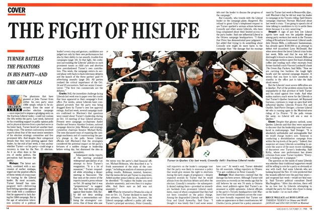 Article Preview: THE FIGHT OF HIS LIFE, October 1988 | Maclean's