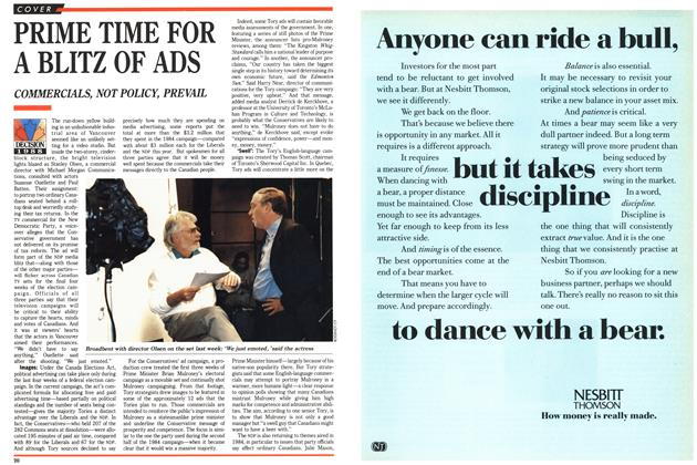 Article Preview: PRIME TIME FOR A BLITZ OF ADS, October 1988 | Maclean's