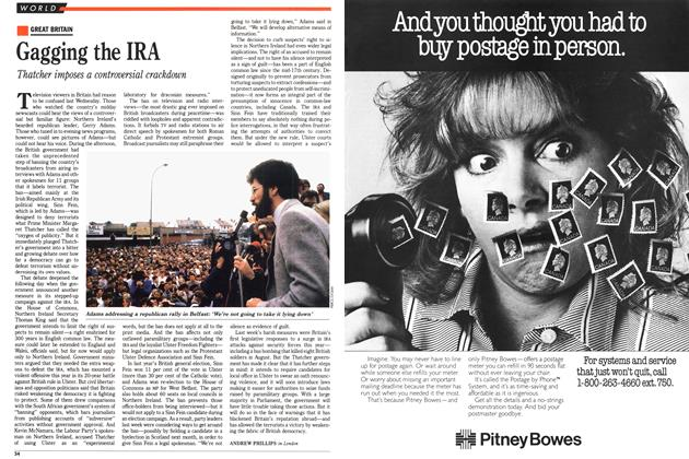 Article Preview: Gagging the IRA, October 1988 | Maclean's