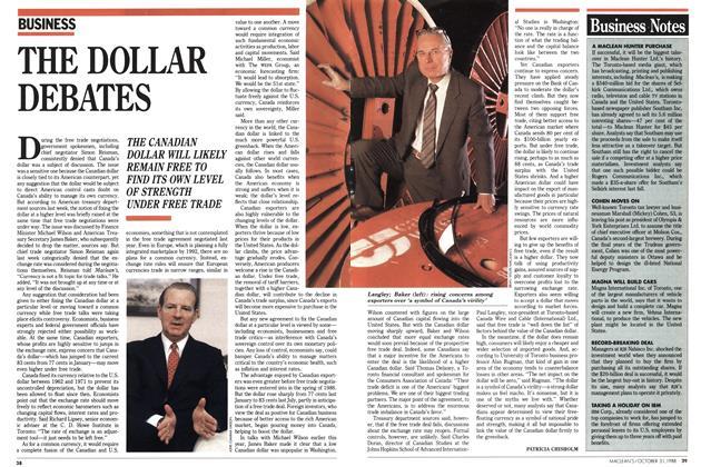 Article Preview: THE DOLLAR DEBATES, October 1988 | Maclean's