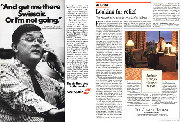 Article Preview: Looking for relief, October 1988 | Maclean's