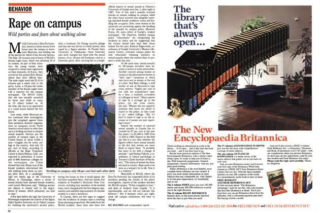 Article Preview: Rape on campus, October 1988 | Maclean's