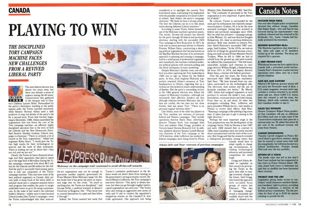 Article Preview: PLAYING TO WIN, November 1988 | Maclean's
