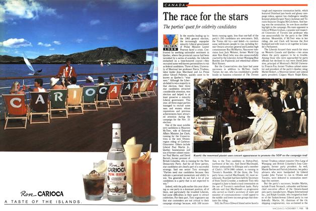 Article Preview: The race for the stars, November 1988 | Maclean's