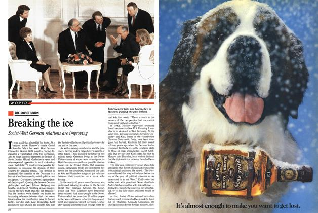Article Preview: Breaking the ice, November 1988 | Maclean's