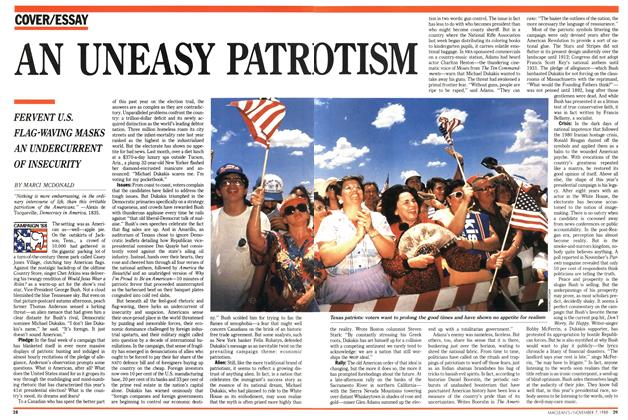 Article Preview: AN UNEASY PATRIOTISM, November 1988 | Maclean's