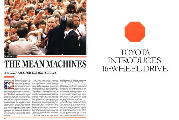 Article Preview: THE MEAN MACHINES, November 1988 | Maclean's
