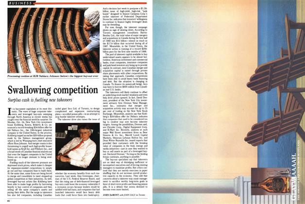 Article Preview: Swallowing competition, November 1988 | Maclean's