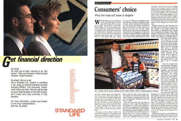 Article Preview: Consumers' choice, November 1988 | Maclean's