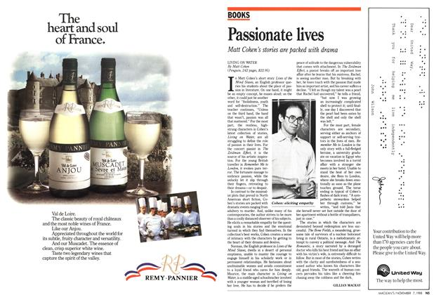 Article Preview: Passionate lives, November 1988 | Maclean's