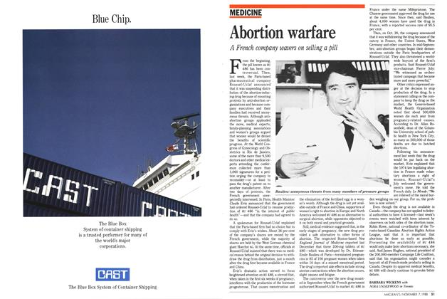 Article Preview: Abortion warfare, November 1988 | Maclean's