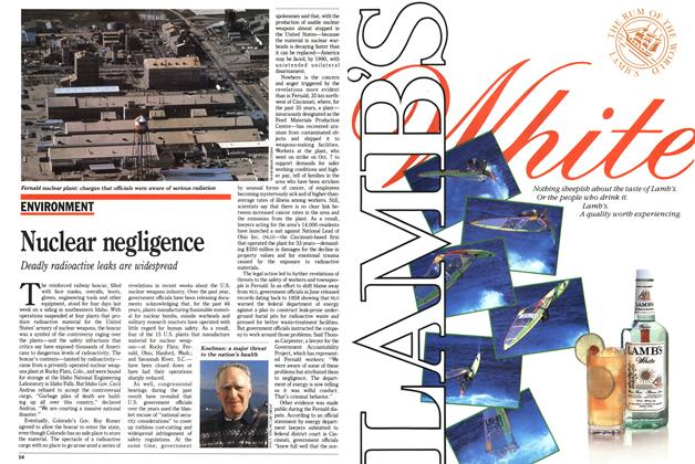 Article Preview: Nuclear negligence, November 1988 | Maclean's