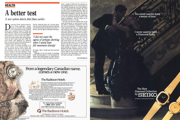 Article Preview: A better test, November 1988 | Maclean's