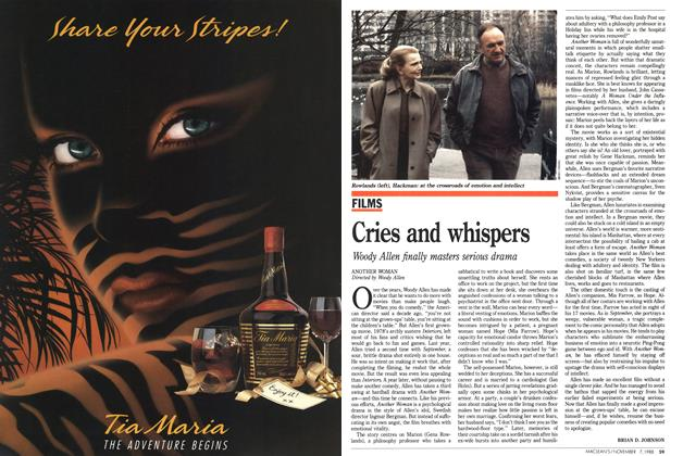 Article Preview: Cries and whispers, November 1988 | Maclean's
