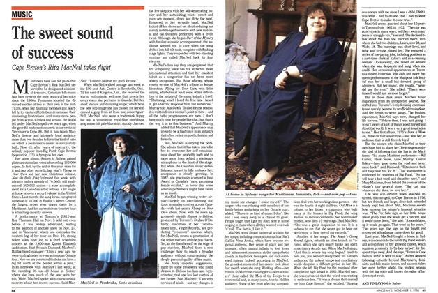 Article Preview: The sweet sound of success, November 1988 | Maclean's