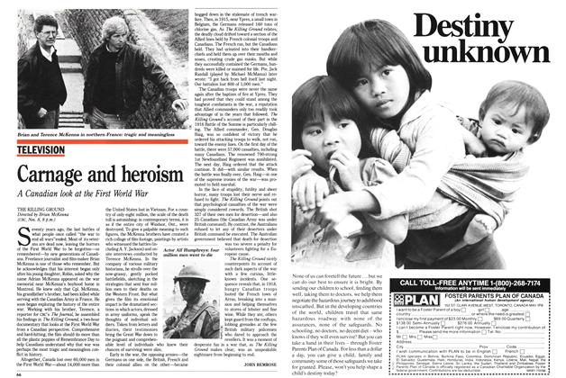 Article Preview: Carnage and heroism, November 1988 | Maclean's