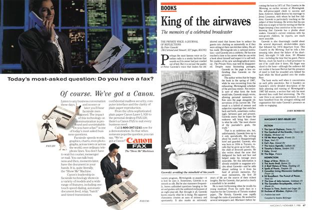 Article Preview: King of the airwaves, November 1988 | Maclean's