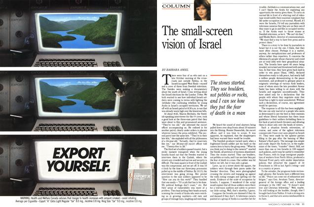 Article Preview: The small-screen vision of Israel, November 1988 | Maclean's