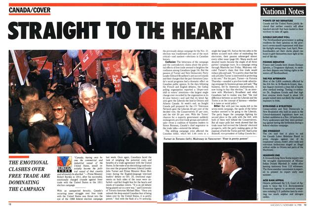 Article Preview: STRAIGHT TO THE HEART, November 1988 | Maclean's