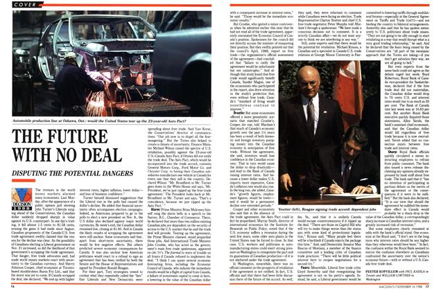 Article Preview: THE FUTURE WITH NO DEAL, November 1988 | Maclean's