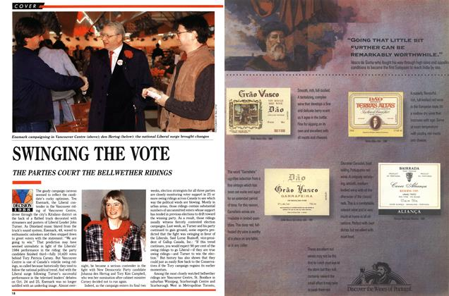 Article Preview: SWINGING THE VOTE, November 1988 | Maclean's