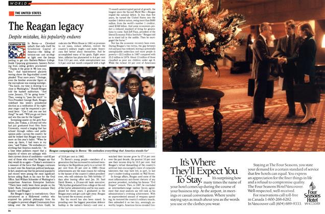 Article Preview: The Reagan legacy, November 1988 | Maclean's