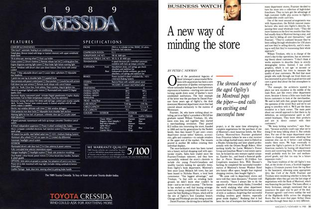 Article Preview: A new way of minding the store, November 1988 | Maclean's