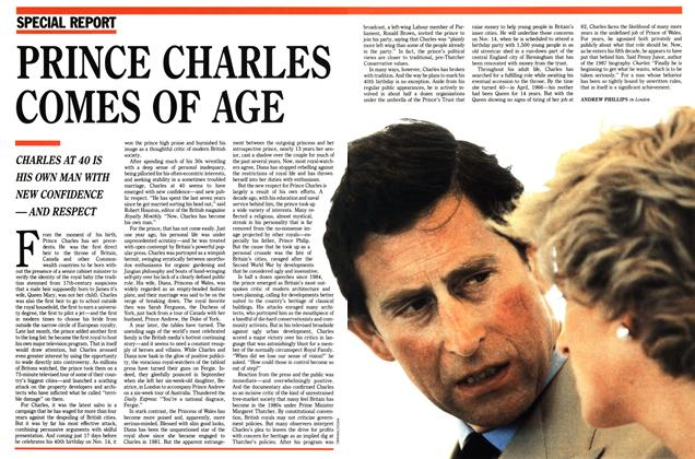 Article Preview: PRINCE CHARLES COMES OF AGE, November 1988 | Maclean's