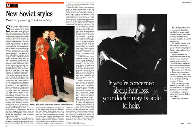 Article Preview: New Soviet styles, November 1988 | Maclean's