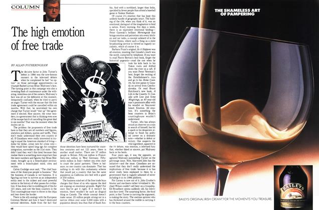 Article Preview: The high emotion of free trade, November 1988 | Maclean's